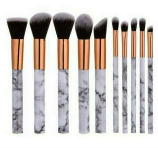 Marble Make Up Brush Set