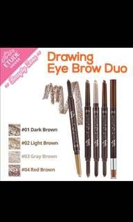 Etude House drawing eye brow duo dark brown