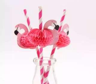 10pcs Flamingo Straw