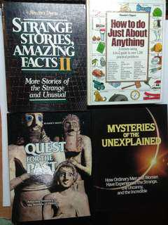 A Lot of Books on Amazing, Mysteries, Unexplained, Riddles of History, total 4pcs