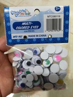 Wiggly Colored Eyes 150pc