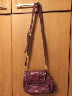 Kate spade burgundy leather crossbody