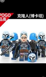 Star Wars Clone Troopers Minifigures