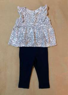 Tiny Tummies Blouse and Leggings Set