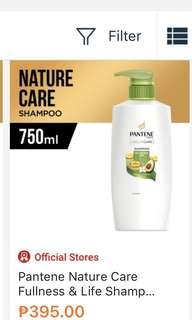 Pantene Nature Care shampoo 750mL