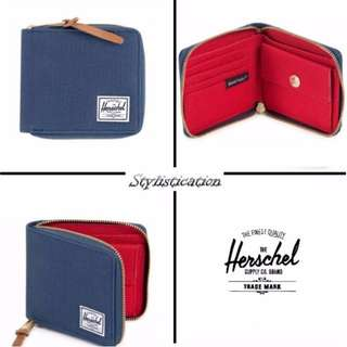 ✧AUTHENTIC✧FREE POSTAGE✧ Herschel Walt Wallet (Navy Blue & Red)