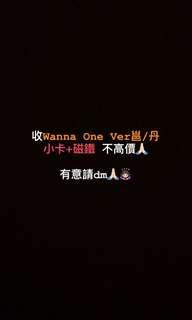收Wanna One Ver邕/丹 小卡+磁鐵