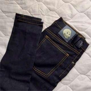 正品 Cheap Monday ASOS 破洞流蘇高腰低腰學院風潮牌緊身合身牛仔褲
