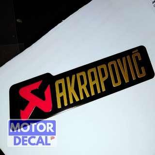 Akrapovic Heat Resistance Exhaust emblem