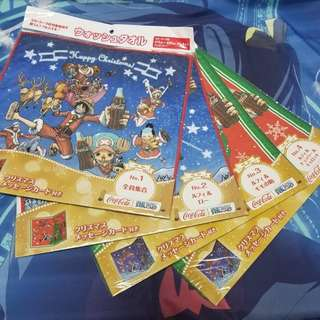 One Piece Christmas Towel and Message Card