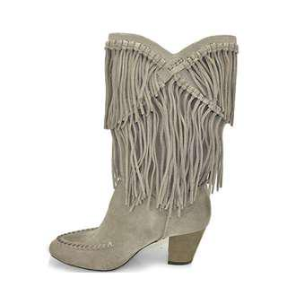 7 for all Mankind womens fringe boots grey 8US