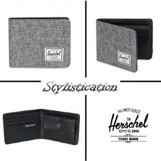 ✧AUTHENTIC✧FREE POSTAGE✧ Herschel Hank Coin Wallet (Charcoal Grey)✧