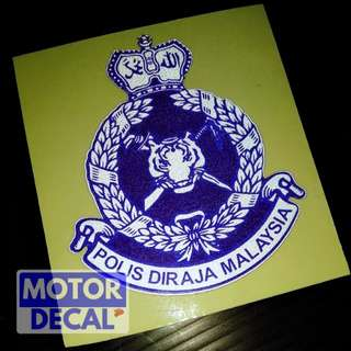 Polis MY Reflective sticker