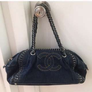 AUTHENTIC CHANEL VINTAGE DENIM BAG
