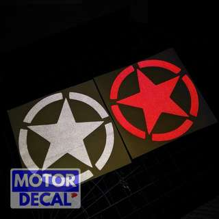 Military Star Reflective Decal