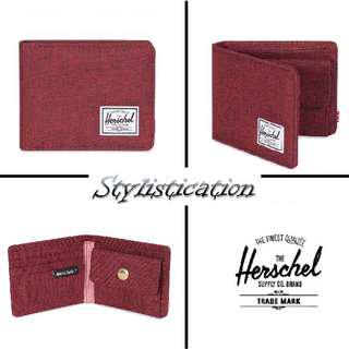✧AUTHENTIC✧FREE POSTAGE✧ Herschel Roy Coin Wallet (Winetasting Crosshatch)✧