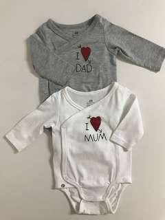 H&M I ❤️ Dad/Mum Baby Romper