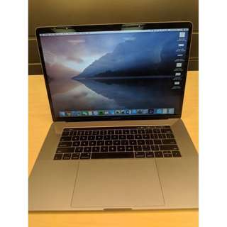 99%New MacBook Pro 15 吋 2016 Touch Bar and Touch ID  Intel i7 2.6GHz 16GB RAM 256GB 太空灰 Grey