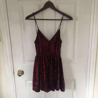 UO Crushed Velvet Dress/Romper