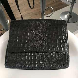 AESTHETIC PLEASURE croc sling bag