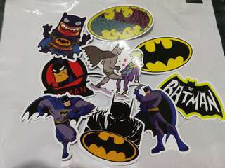 Superhero DC Batman Shiny Stickers Set