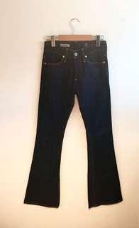 AG denim jeans 70s flare dark blue 26