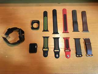Apple Watch Series 2 (Nike) 42mm with various straps