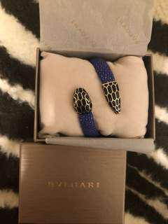 🚚 Bvlgari 寶格麗 serpenti forever 雙環手環深藍