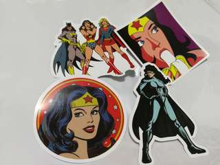 Superhero Girl Power DC Shiny Stickers Set