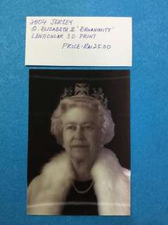 2004 Jersey Queen Elizabeth 2 'Equanimity' Lenticular 3D Print