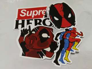 Superhero DC Shiny Stickers Set