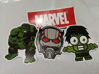 Superhero Marvel Shiny Stickers Set