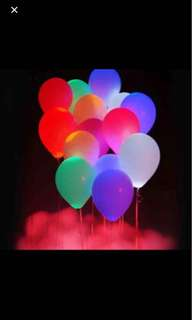 LED Helium Balloon! Simple to Use! 5 Pieces!