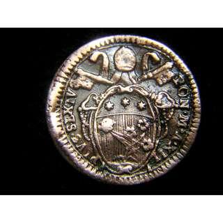 1786年梵蒂岡教宗庇護六世徽號老銅幣(少見)