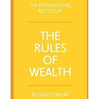 E-BOOK THE RULES OF WEALTH - RICHARD TEMPLAR