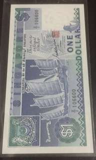 💎Z/2 106600💎 🚢 Series $1 Replacement Note with Nice Fancy Number in Extremely Crispy Brand New Mint Uncirculated Condition 👆🏿