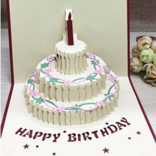 🚚 Pop up paper birthday card