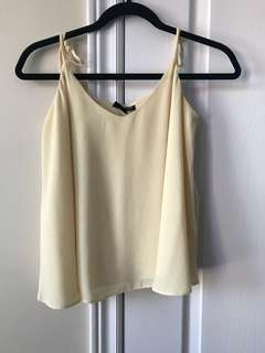 Topshop Pale Yellow top