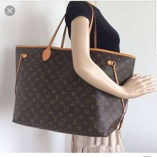 Authentic louis vuitton never full bag
