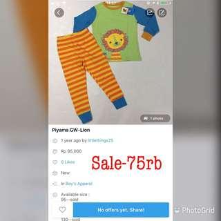 SALE-Lion pajamas