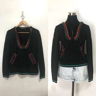 Tulip Crochet-Lined Jacket Hoodie Pullover