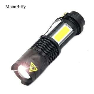 XML-Q5+COB LED Torch Flashlight Use AA 14500 Battery Waterproof