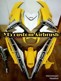 Coverset y15 Full Original Hly Custom Airbrush Kenny Robert