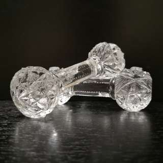 Crystal Dumbbell figurine 1pairs