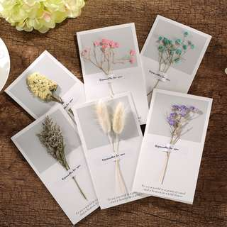 🚚 Gift card with dried flower birthday wedding party
