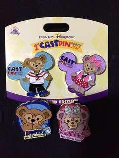 Duffy Shelliemay Disney Pin 迪士尼 徽章