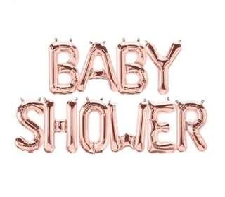 Baby shower rose gold balloon