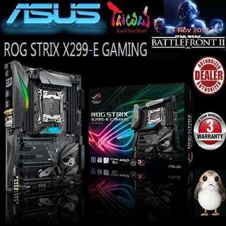 ASUS ROG STRIX X299-E GAMING MOTHERBOARD (3 Years Warranty), + Bundle Together with Intel Intel LGA2066/x299 CPU..., Type of CPU price shown below...