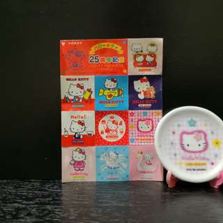 Hello Kitty miniature plate with stand
