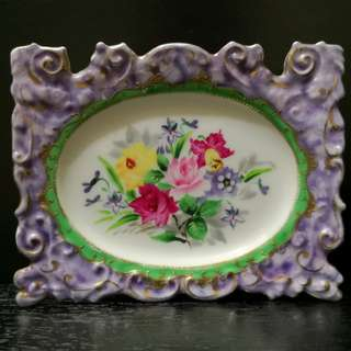 Vintage handpainted wall decor plate